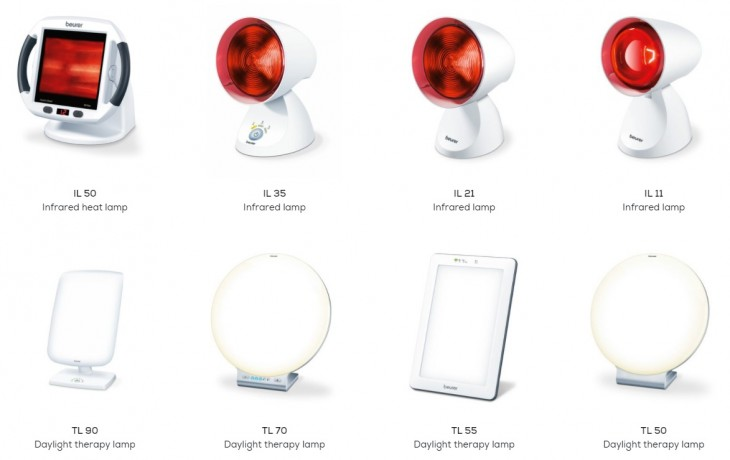 Light therapy lamps from Beurer