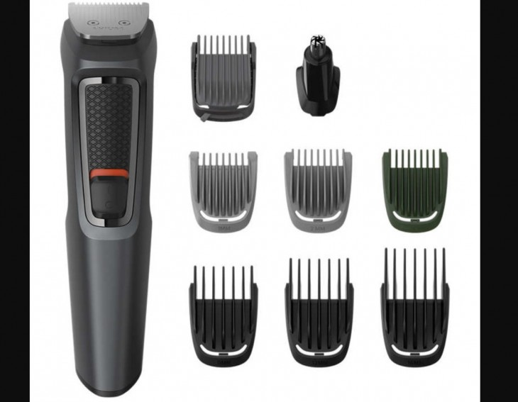 Philips trimmer with self-sharpening blades